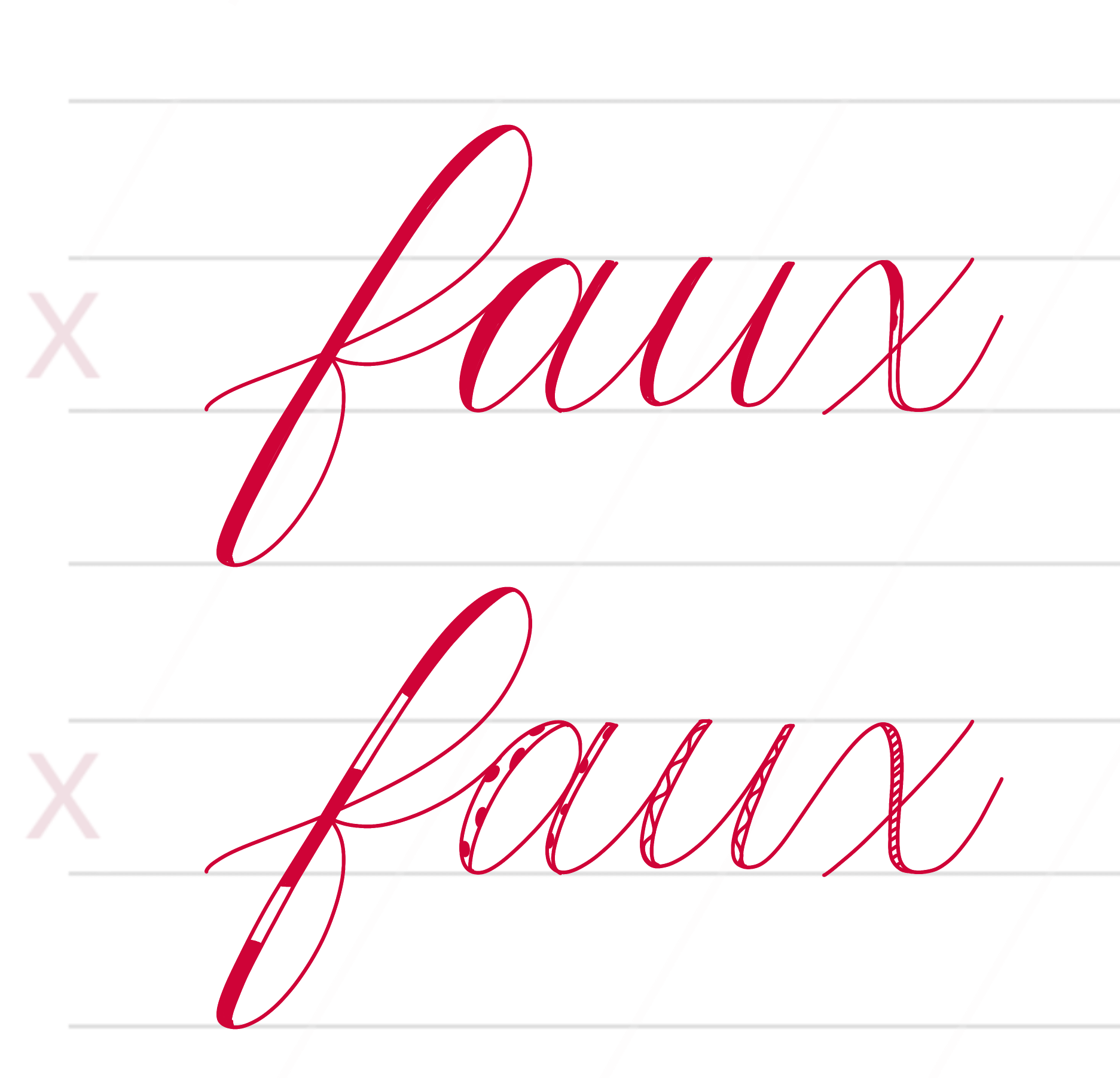 Cherry Pearl Creative brush calligraphy verses faux calligraphy