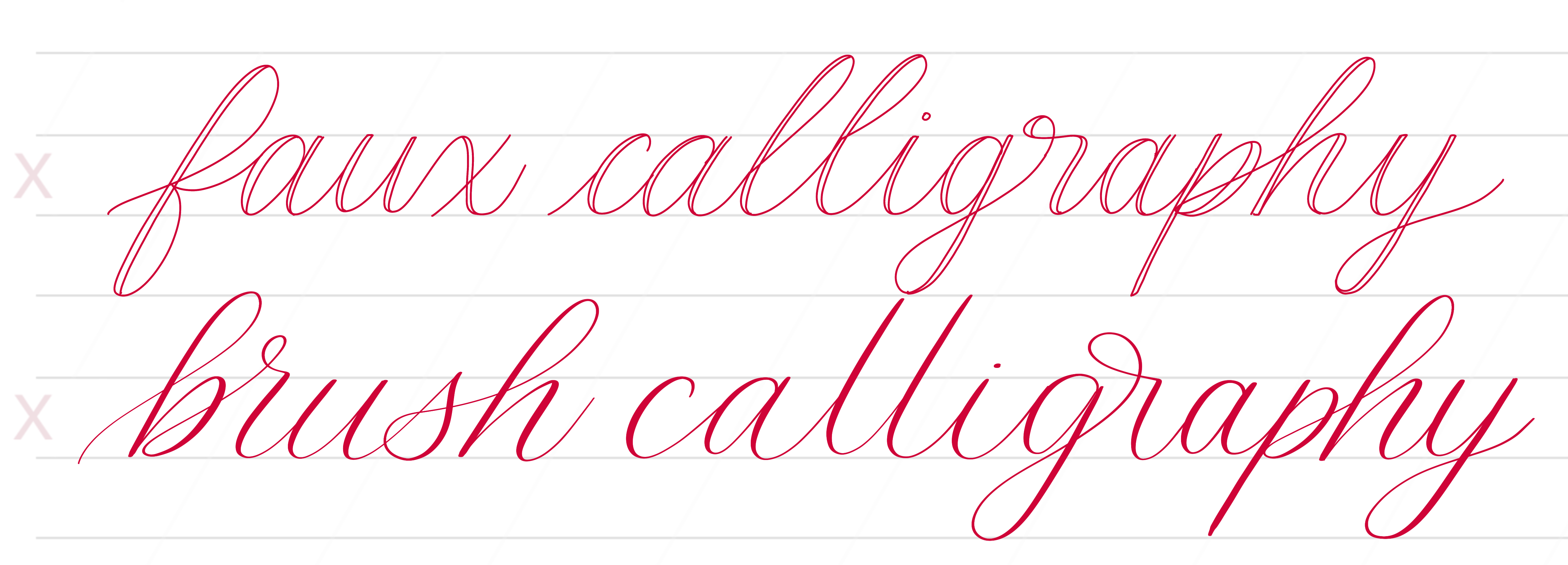 Cherry Pearl Creative - Brush Calligraphy Free Resources - worksheets