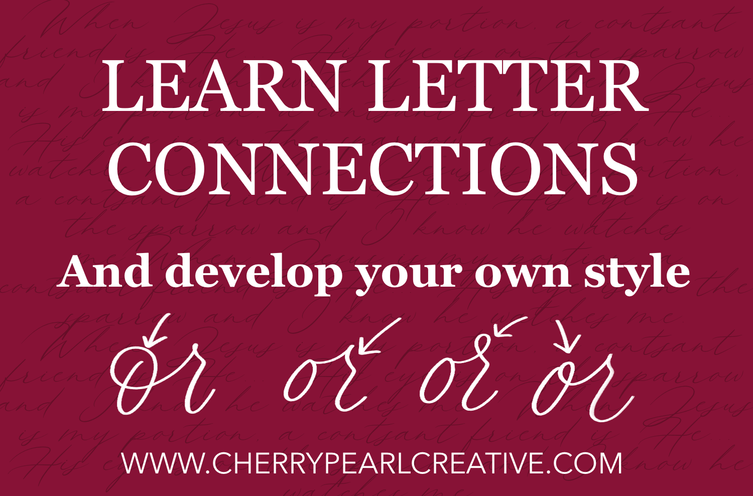 Cherry Pearl Creative - Learn to Connect the Letters in Brush Calligraphy