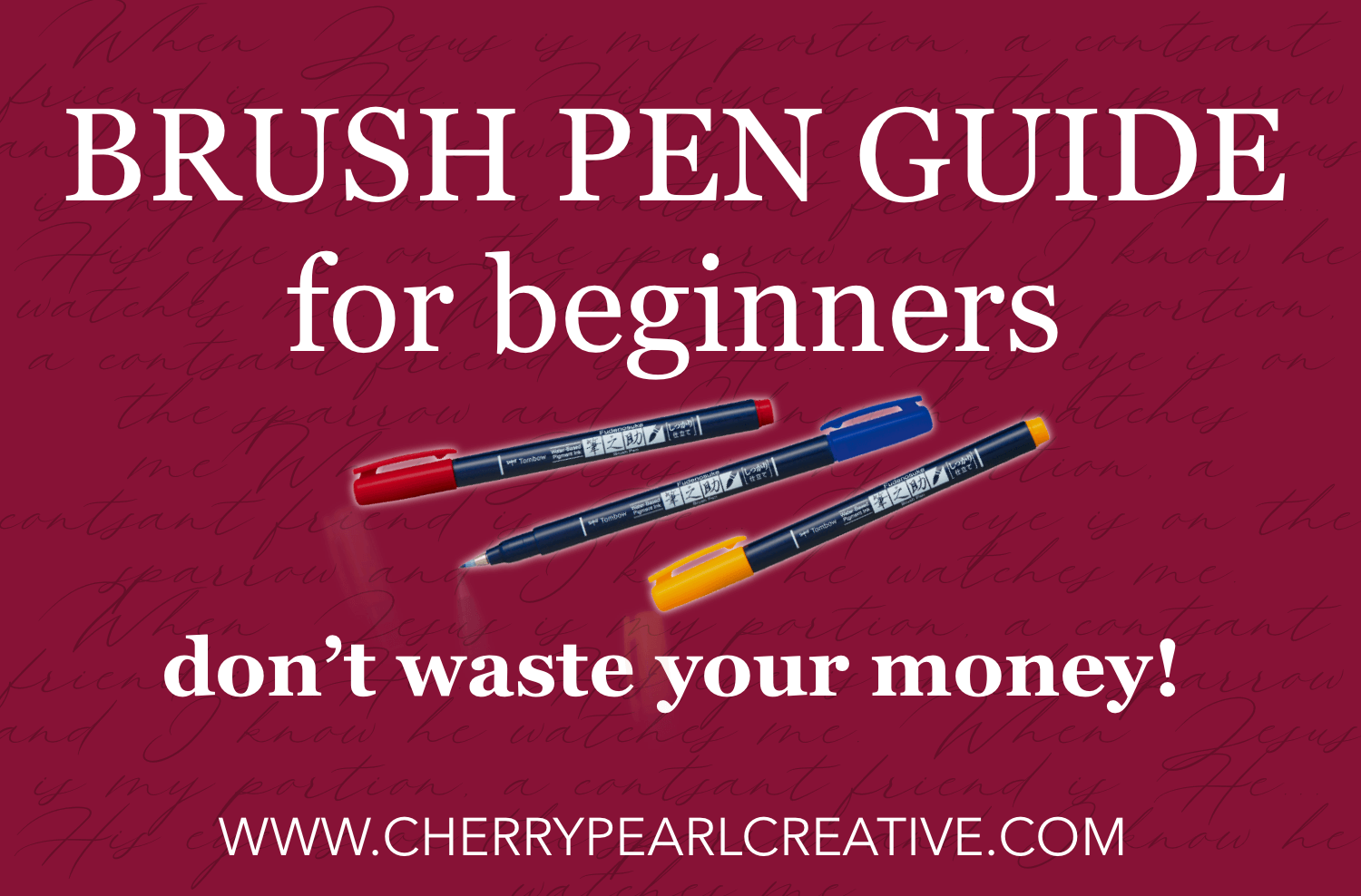 beginners guide to brush pens