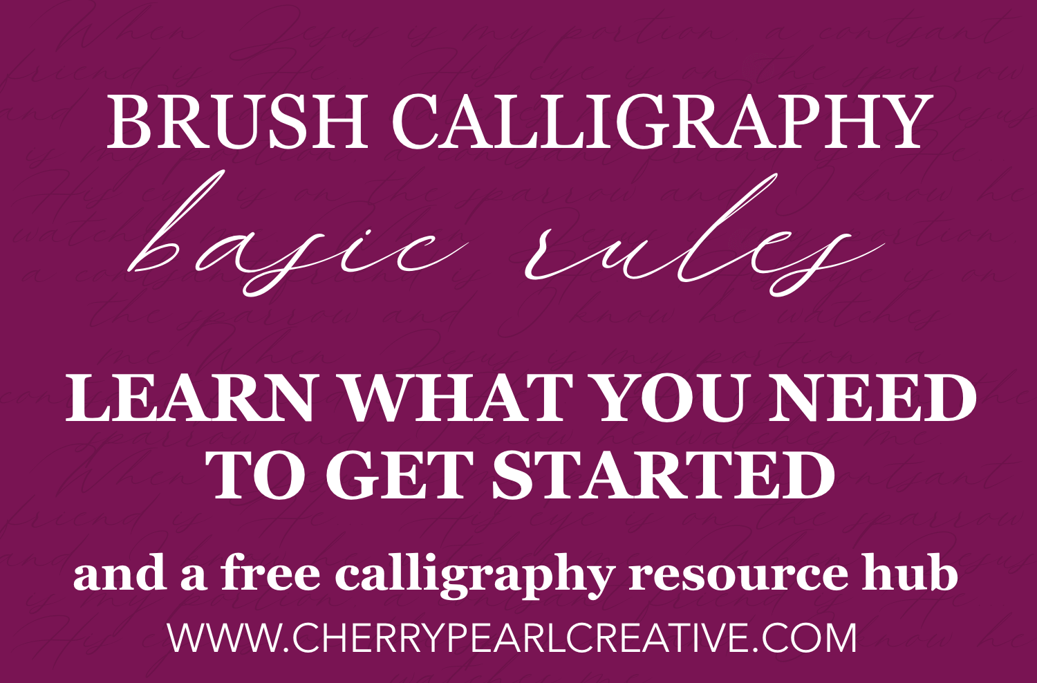 brush calligraphy foundation basic rules