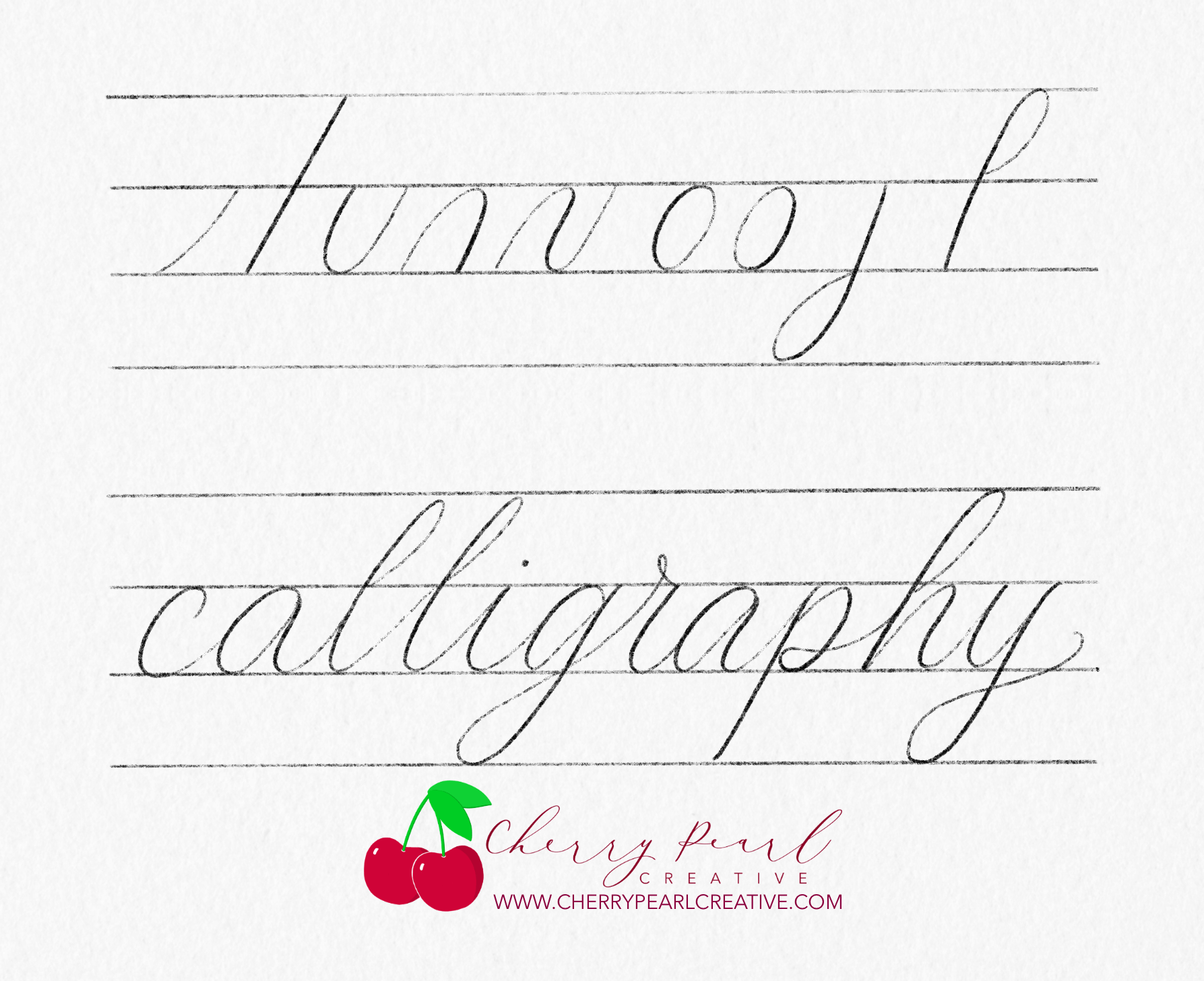 Calligraphy With A Pencil Example - Cherry Pearl Creative