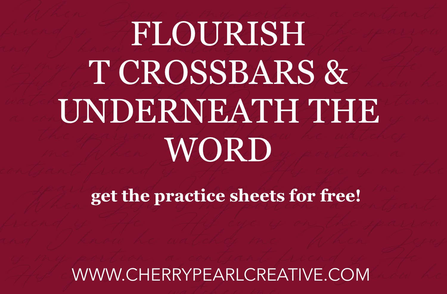Flourishing Ascenders and Descenders Worksheets - Cherry Pearl Creative