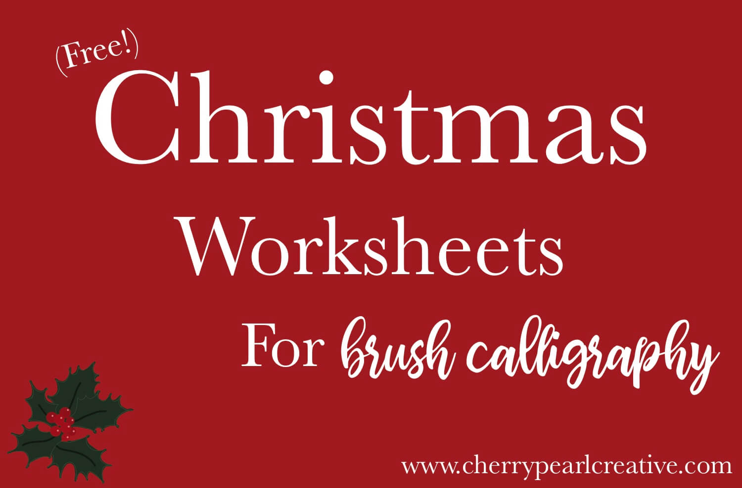 Free Printable Christmas Hand Lettering Practice Sheets