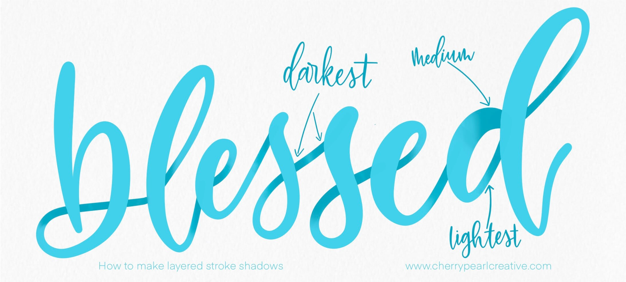 Layered Stroke Shadow for Lettering