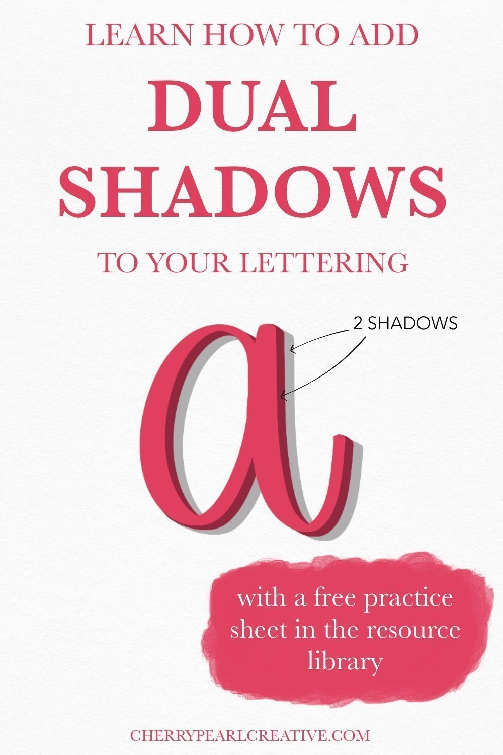 Create Shadows for Lettering - Dual Shadow