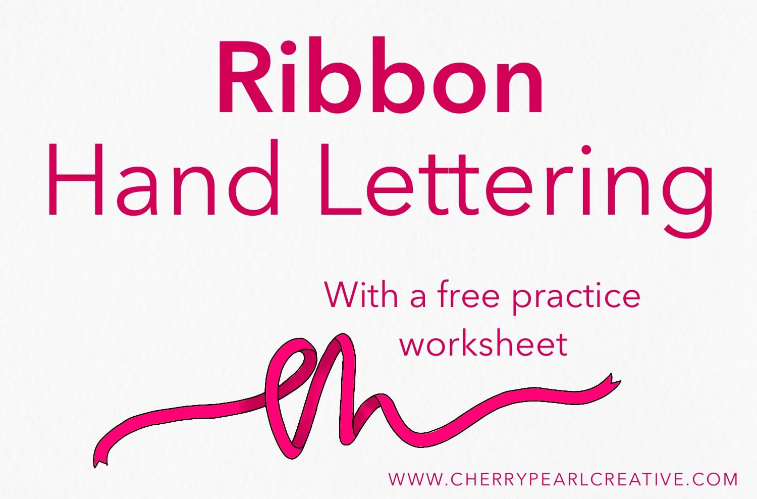 Using Shadows to Make Ribbon Lettering (Adding Shadows To Calligraphy Part 4)