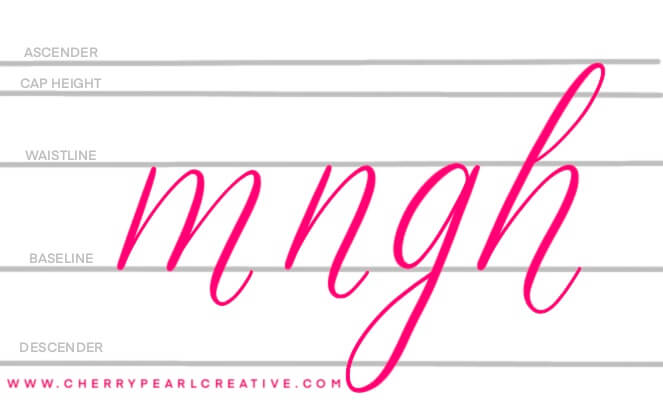 Learn bounce lettering with this handy guide - Cherry Pearl Creative
