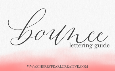 Add Bounce to Your Lettering! (with free practice worksheet)