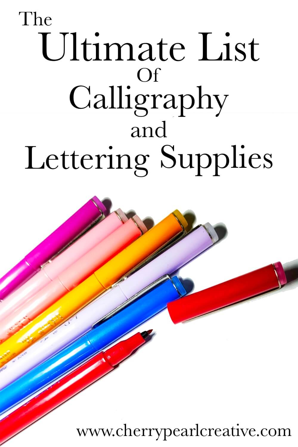 Calligraphy and Lettering Supplies: Brush Pens and More