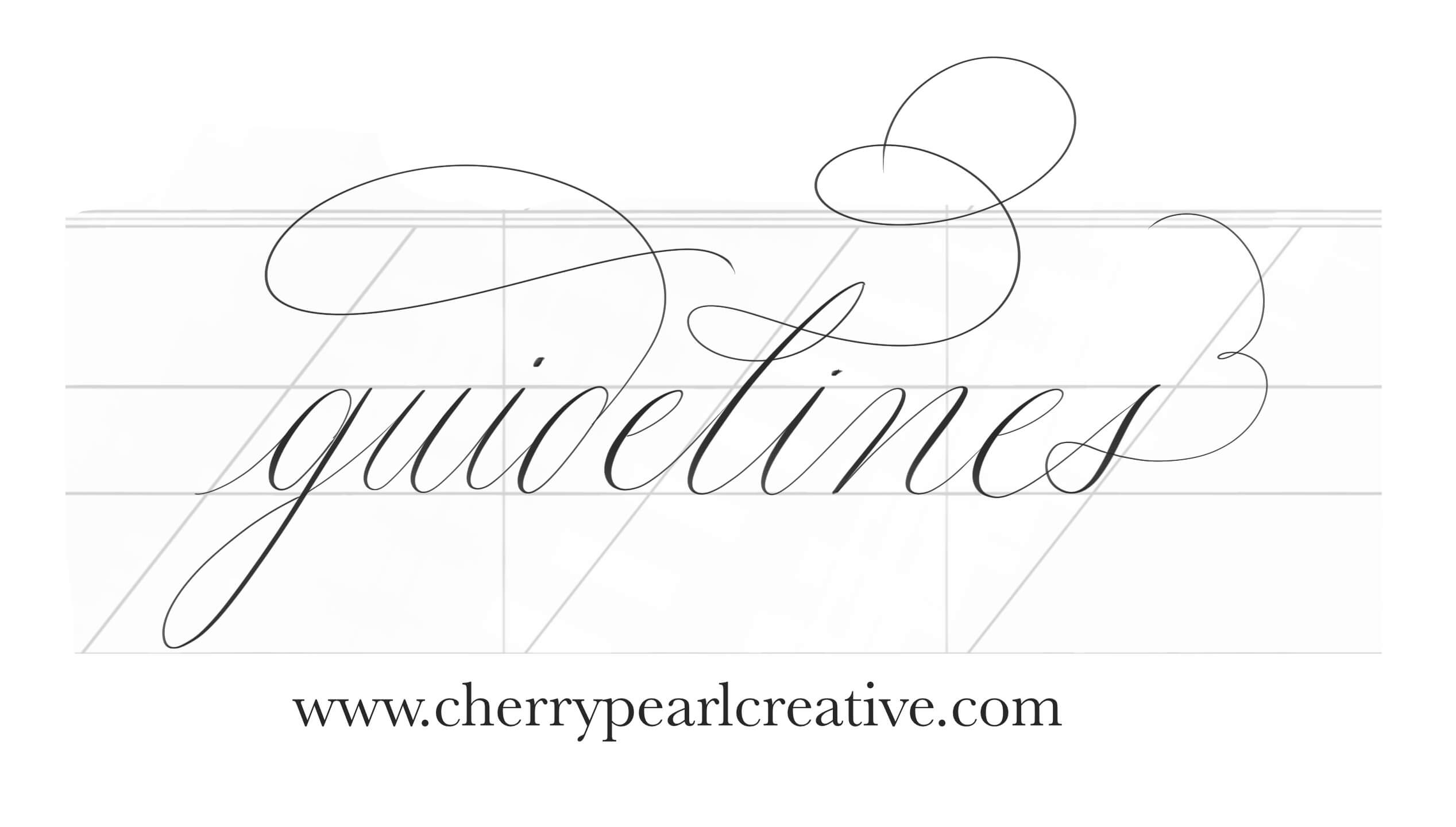 Using guidelines in your calligraphy