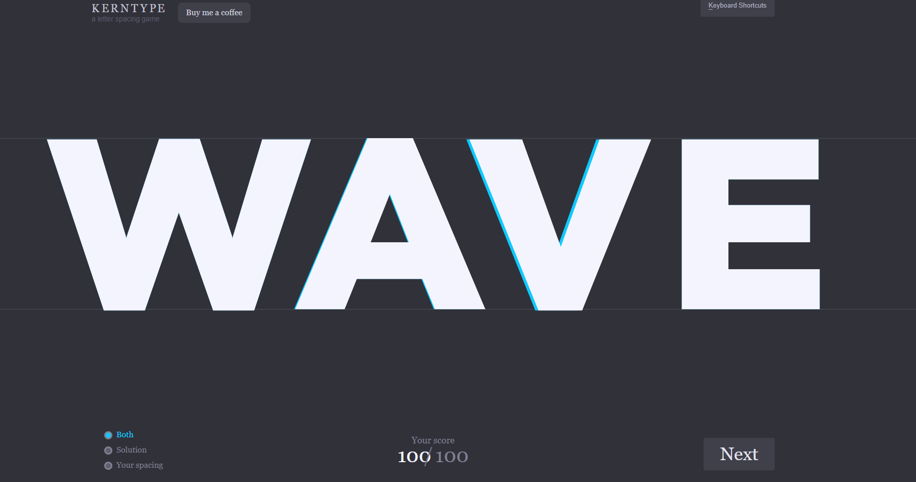 Practice your kerning with this game