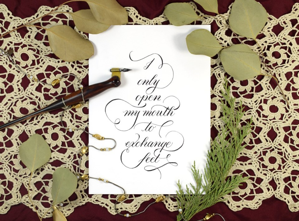 Modern Calligraphy Example By The Postman's Knock