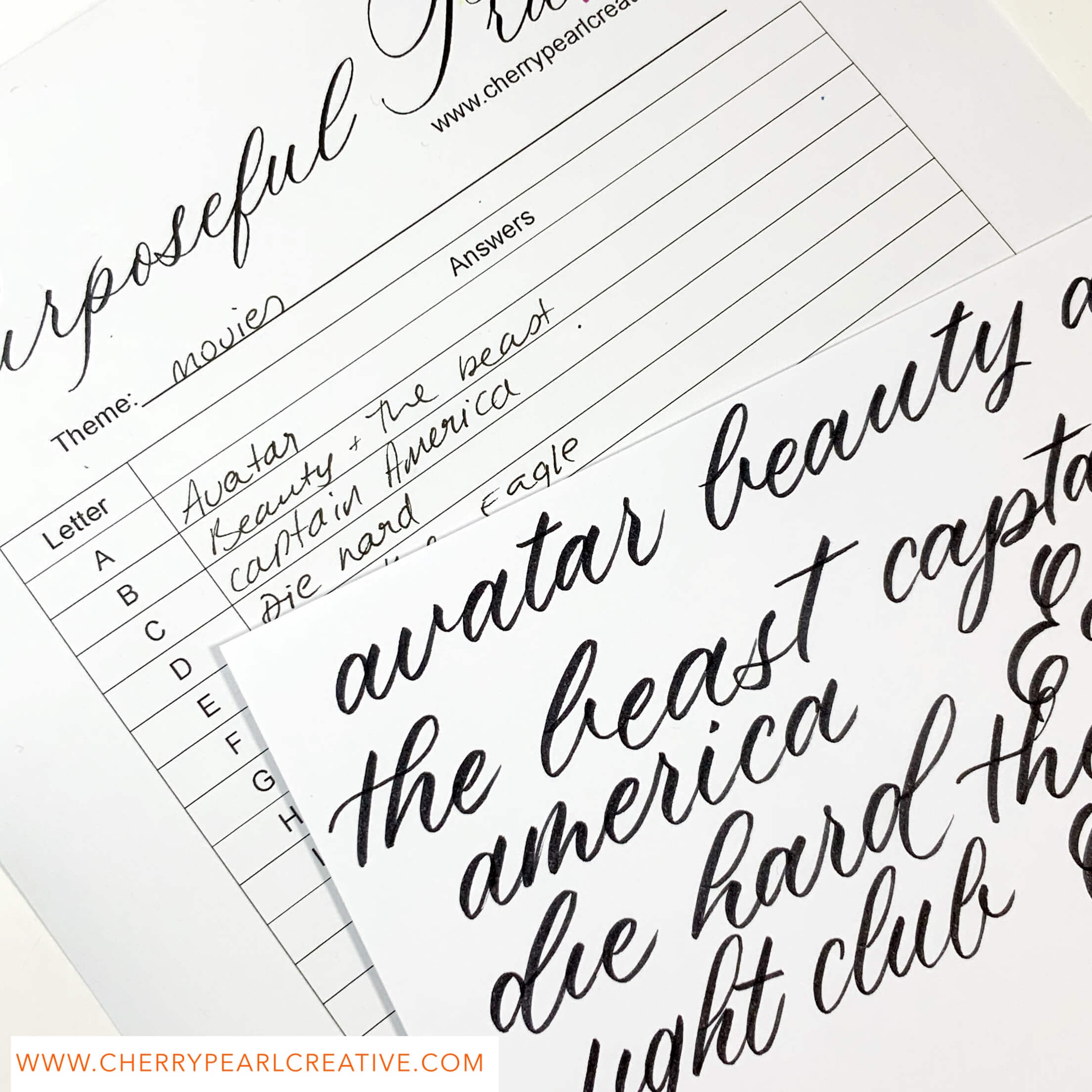 How To Find Your Calligraphy Style Worksheets PDF