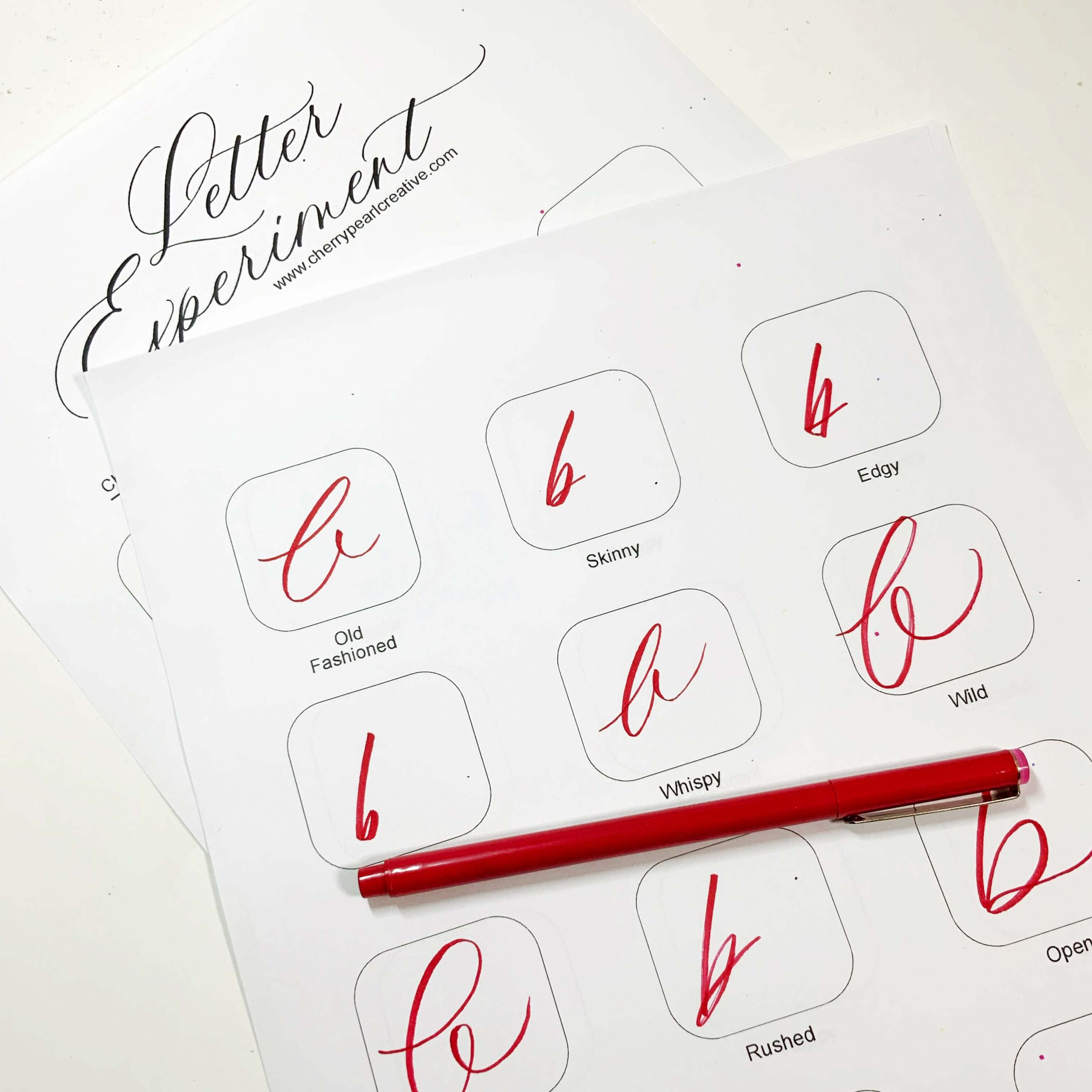Learn Your Calligraphy Style Letters PDF