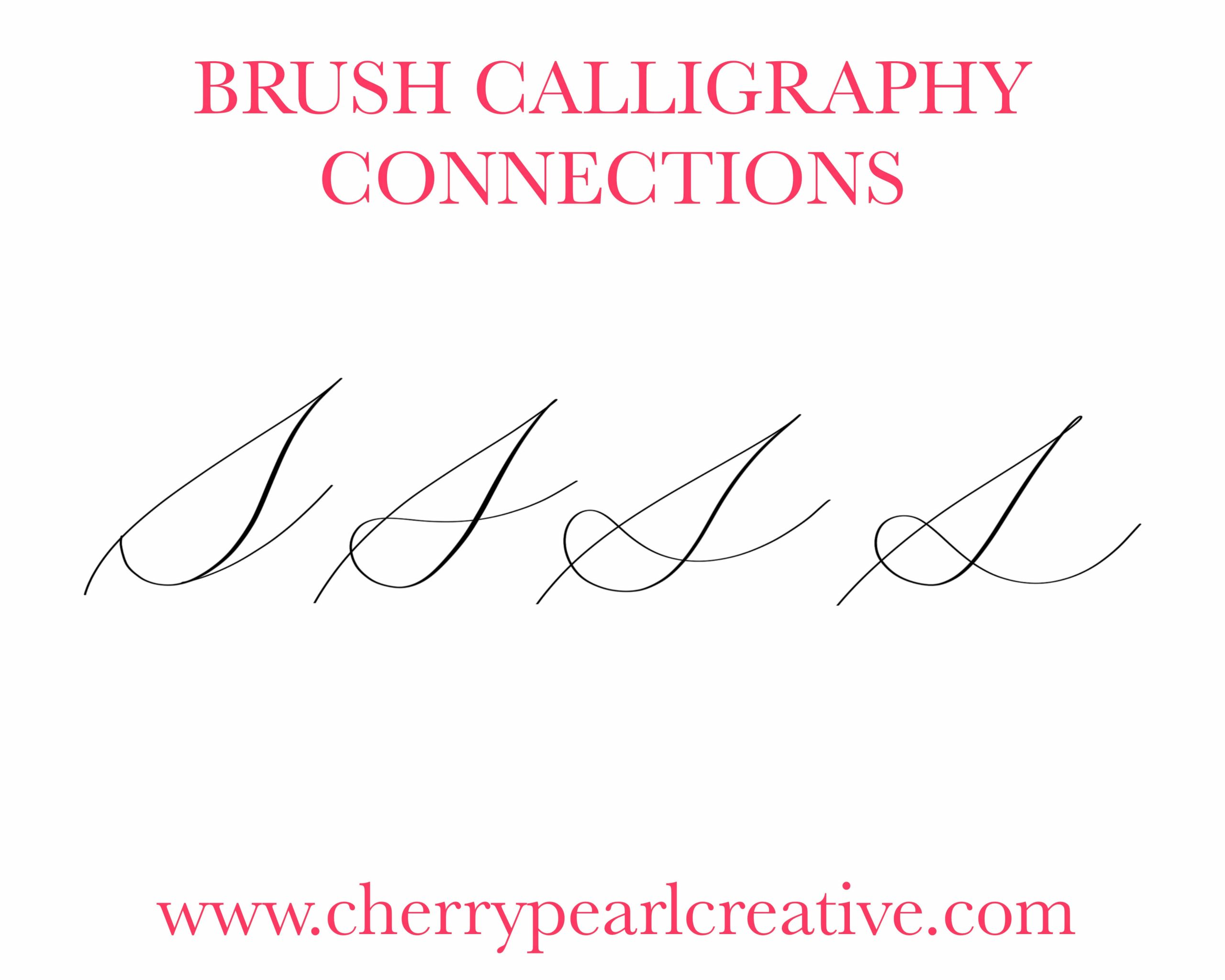 Learn Your Calligraphy Style Letter S Connections