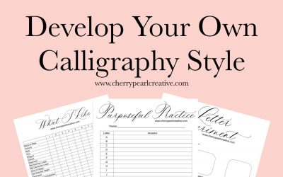 How To Find Your Calligraphy Style