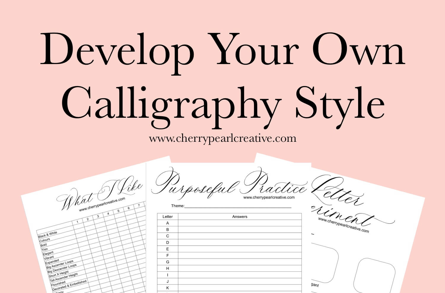 Develop Your Own Calligraphy Style